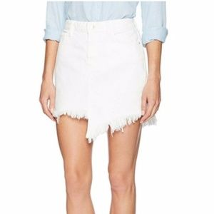 Guess Asymmetrical Stella Denim Raw Hem Skirt